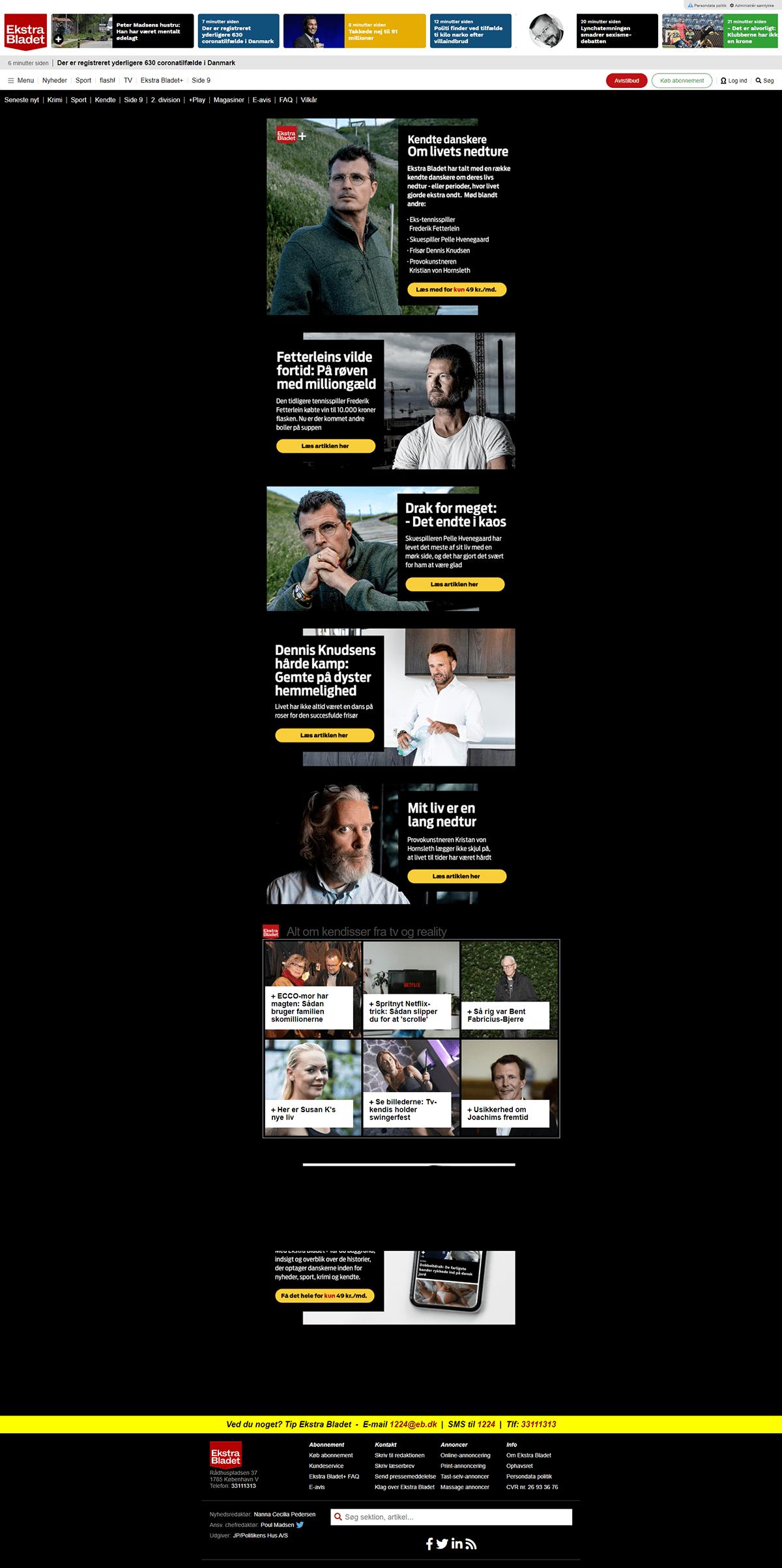 branding  branding campaign Content Management System editioral escenic Escenic Content Studio parallax UX design