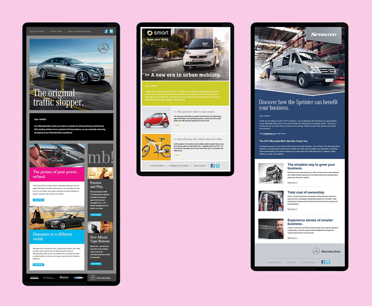 Automotive Email Template Design On Behance