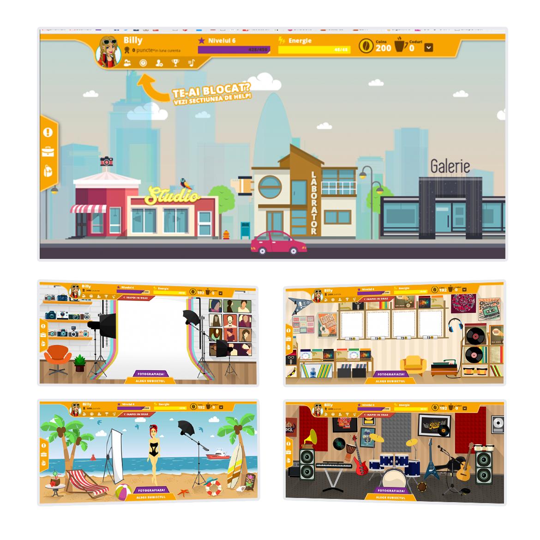 campaign characters flat design game ILLUSTRATION  marketing   Website adobe illustrator graphic design  ui design