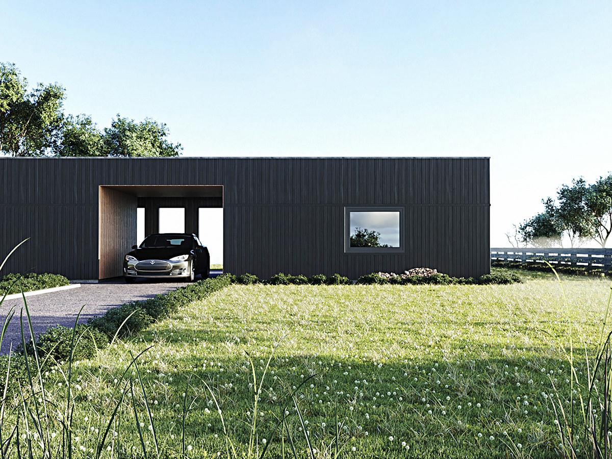 suburban residence on behance