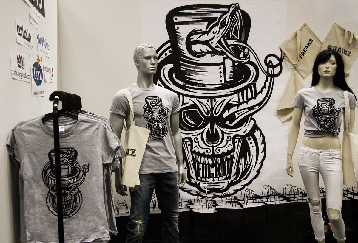 skull death fantasy snake vector vectorart art t-shirt T-Shirt Design vector art
