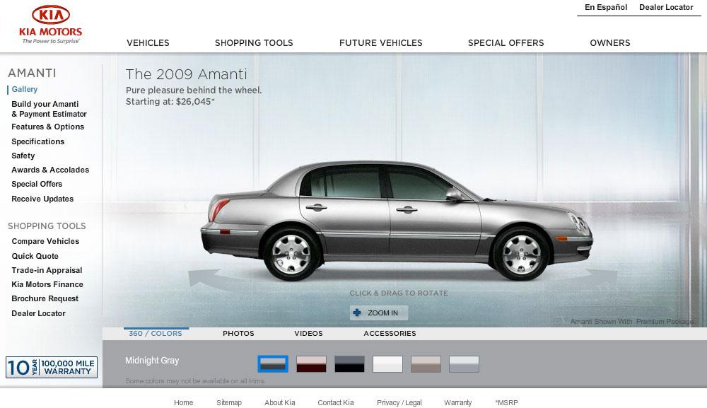modern clean kia interactive design digital branding UI automotive   interface design re-design redesign site redesign