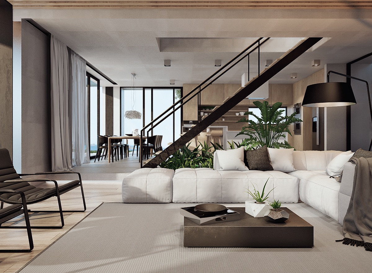 Interior Design With Natural Materials On Behance