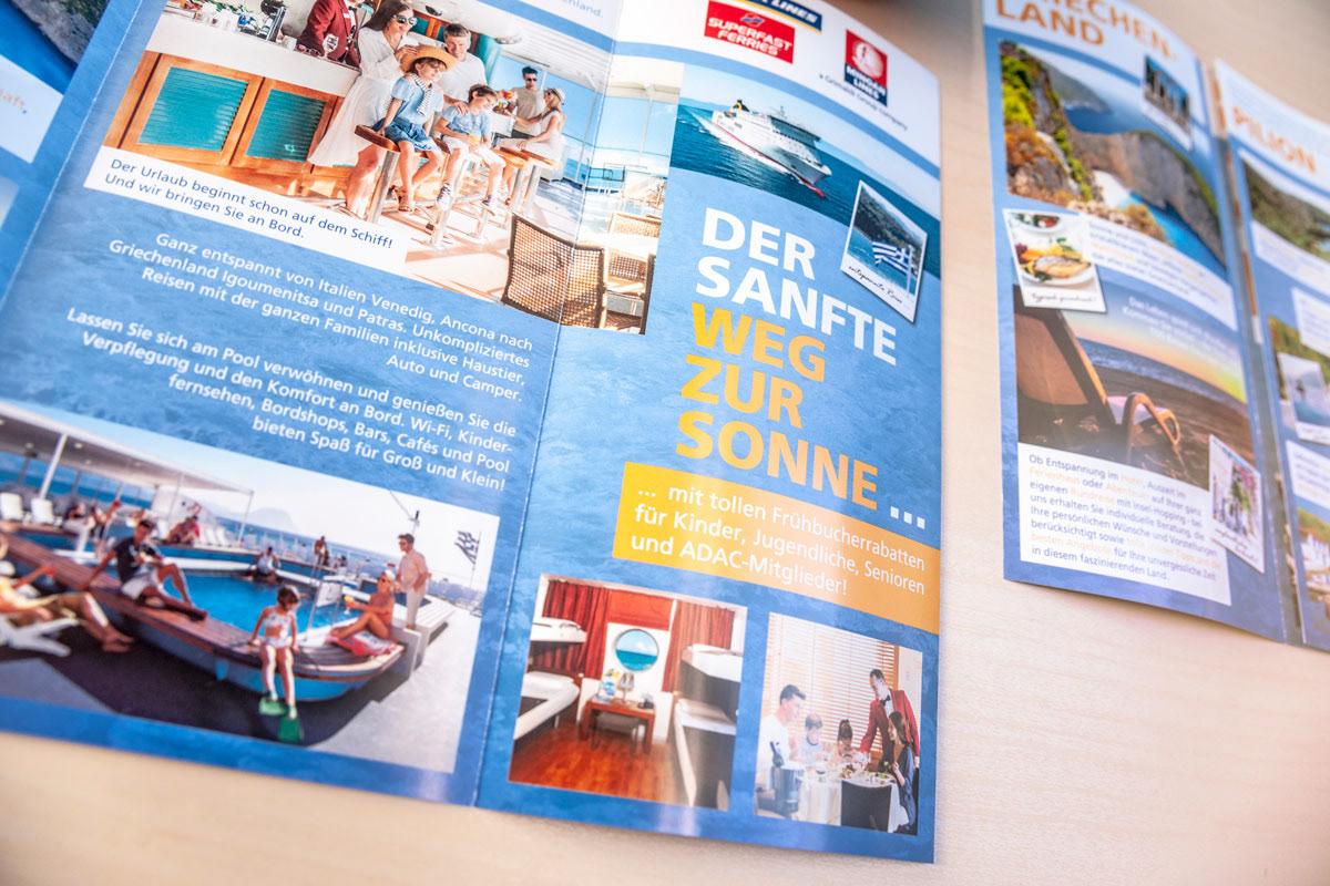redesign printdesign Retusche Bildbearbeitung folder rollup Display Travel Greece #HP