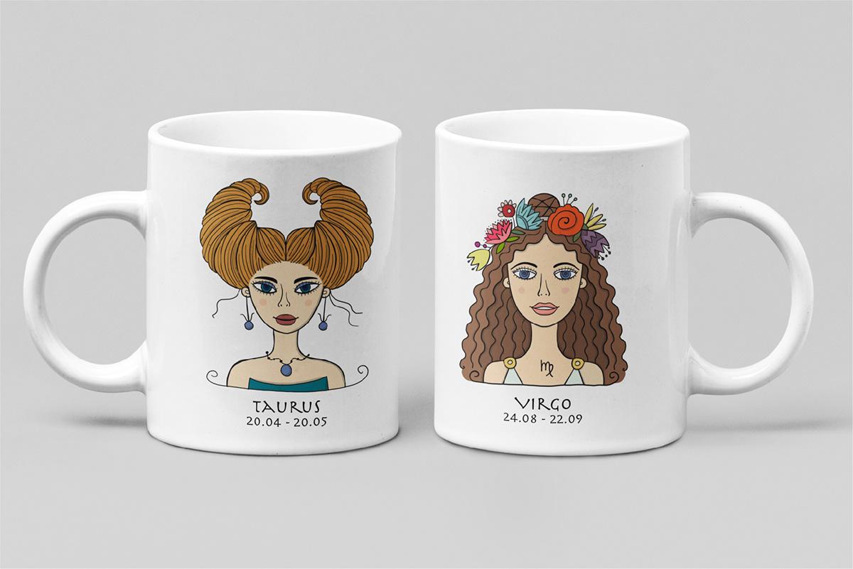 aries Astrology Horoscope pisces sign Vector Illustration zodiac zodiac characters zodiac girls zodiac signs