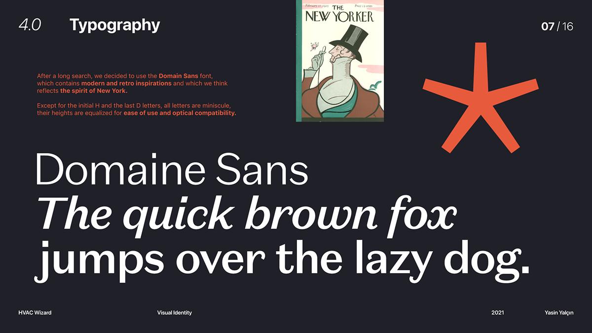 brand brand identity brand identity guidelines branding  HVAC logo Logotype typography   visual identity wizard