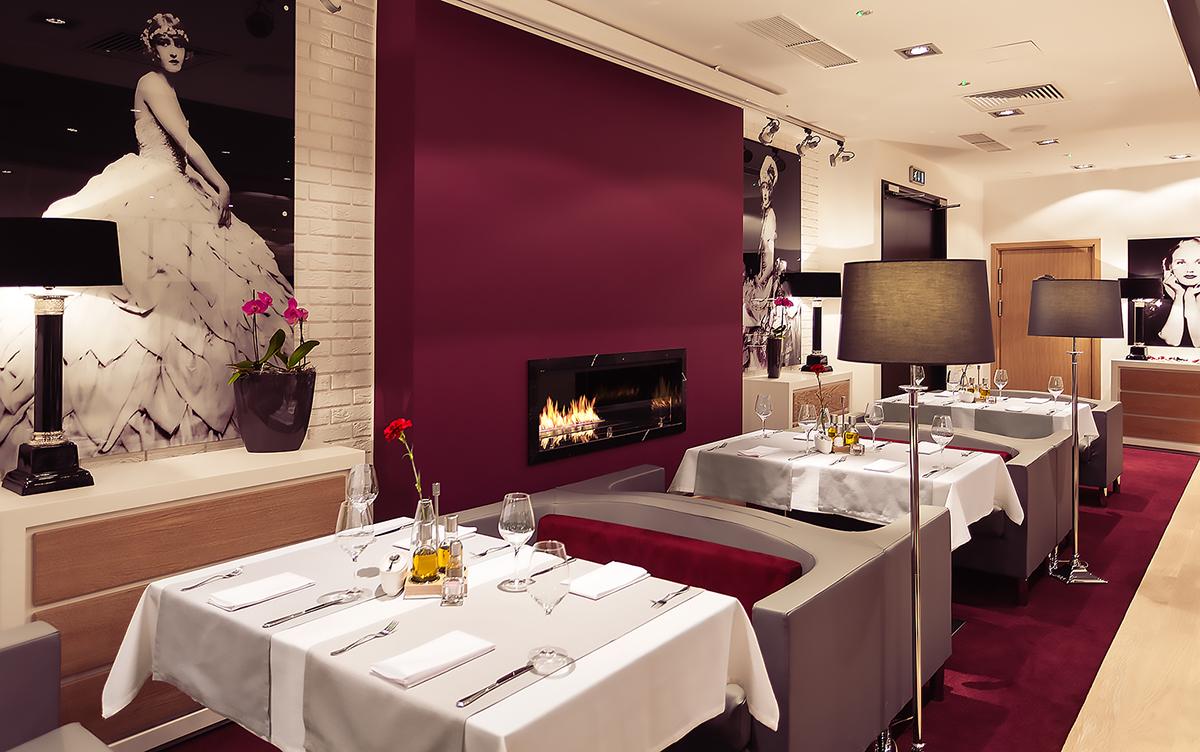 fireplace,Planika,restaurant,burgundy,White,black,bar,kumi studio