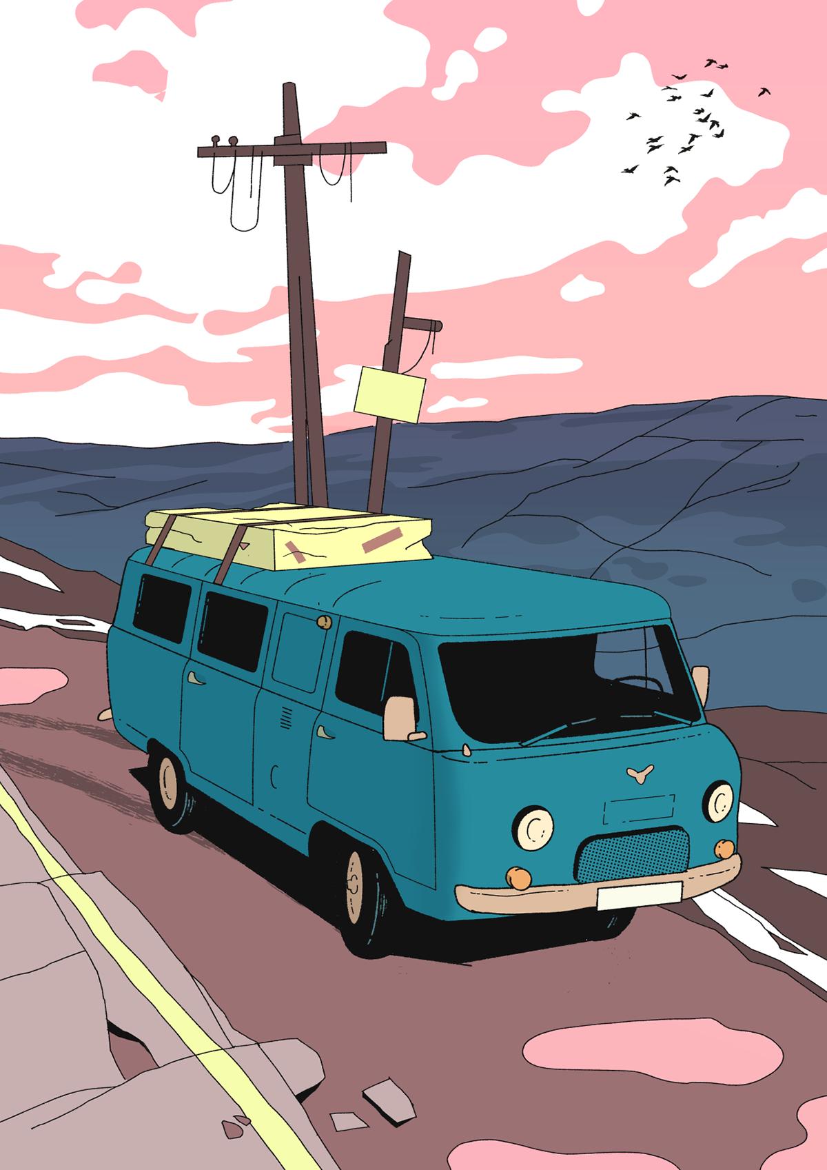 car Landscape palette color