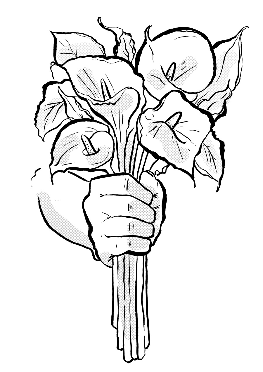 Death lilies illustration on behance why death lilies cala lilies are considered traditionally to be flowers of mourning yet here you are being presented with a bunch of them izmirmasajfo