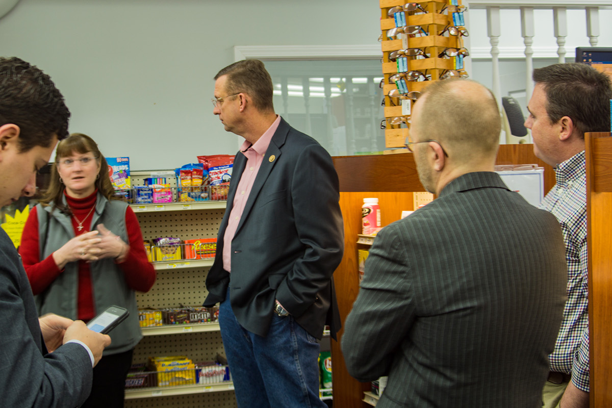 Representative Collins Visits Maddens Pharmacy On Behance