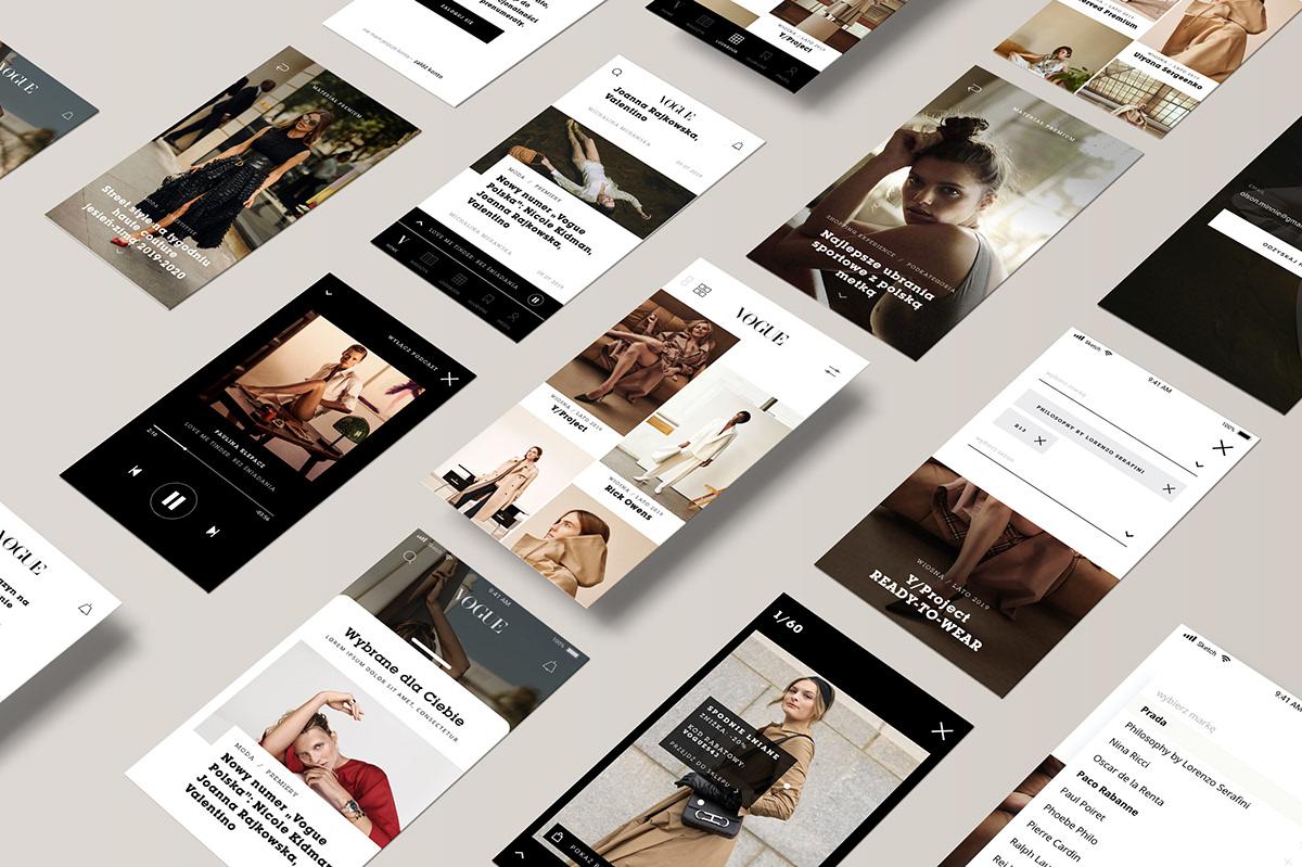 interaction Web app vogue Interface design Fashion  news ux UI