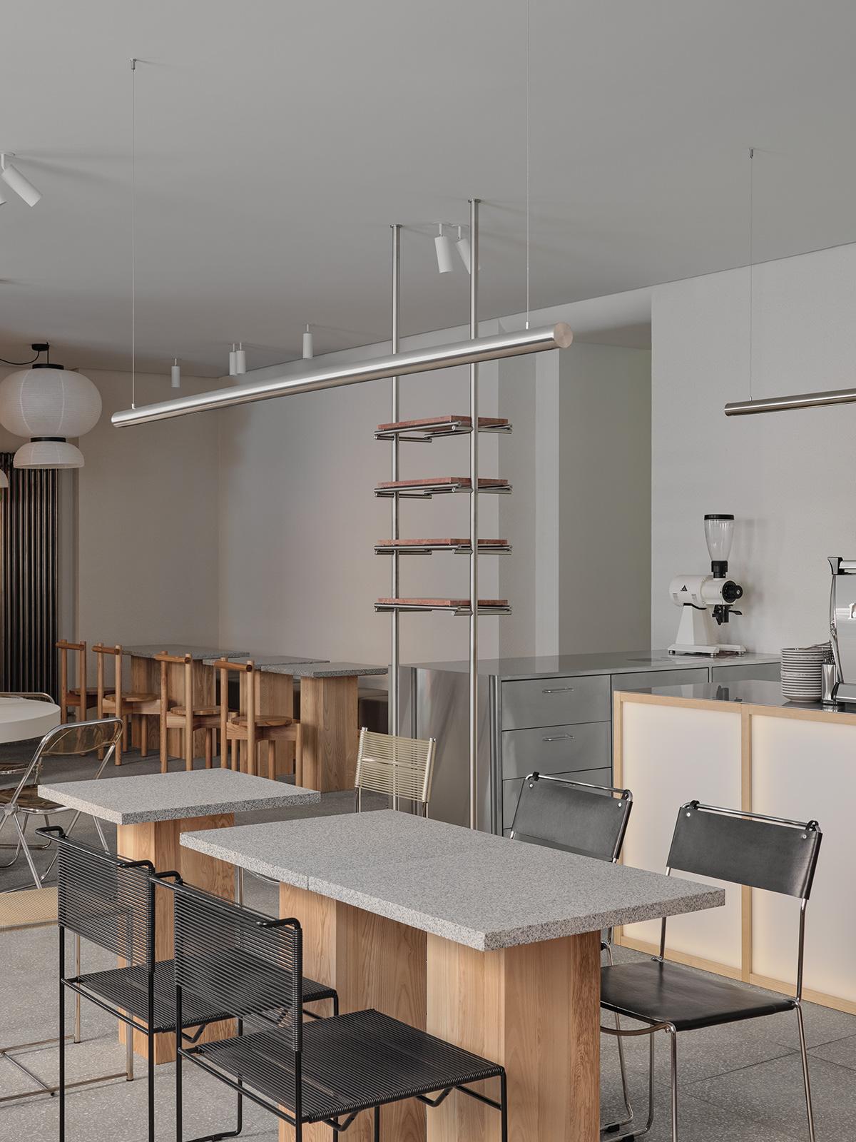 architecture coffee shop design Custom furniture interior design  vintage furniture