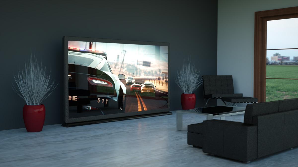 led tv design rendering
