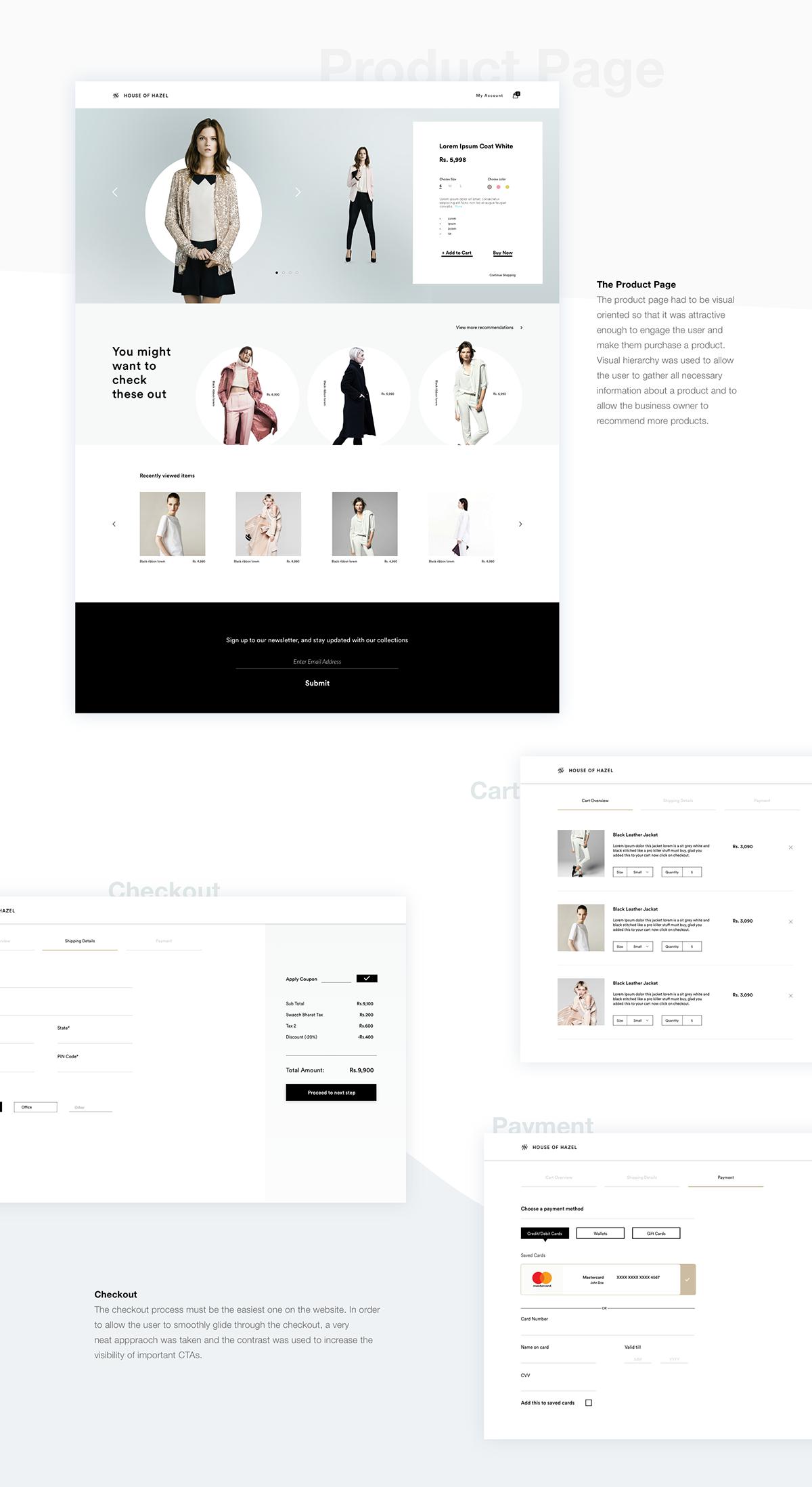 design White minimal clean Fashion  e-commerce women clothes apparel