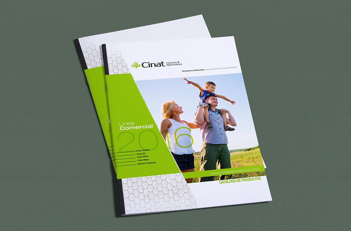laboratorios cinat DESIGNARE agencia diseño gráfico publicidad bogota agencia de diseño Logotipo catalogo brochure plegables packing