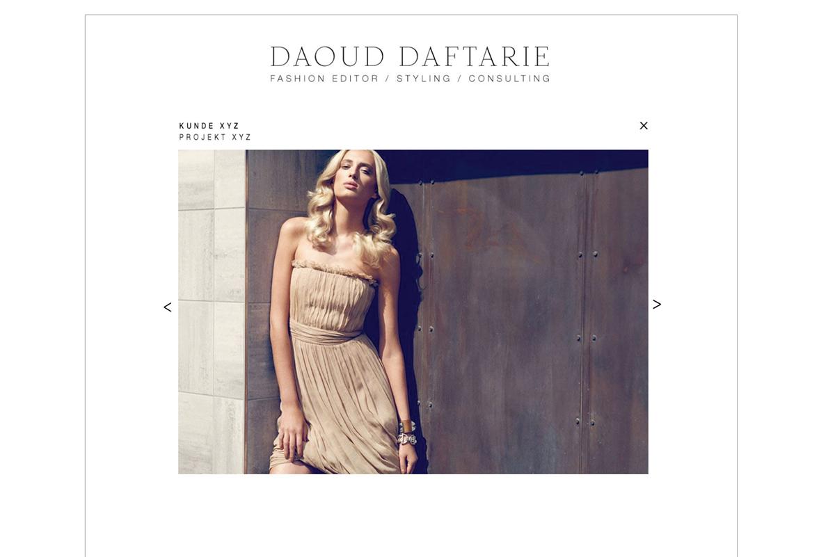 Stylist Daoud Daftarie On Behance