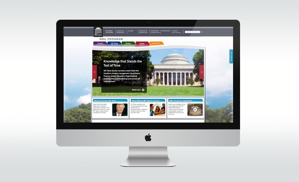 MIT Sloan MBA Website on Behance