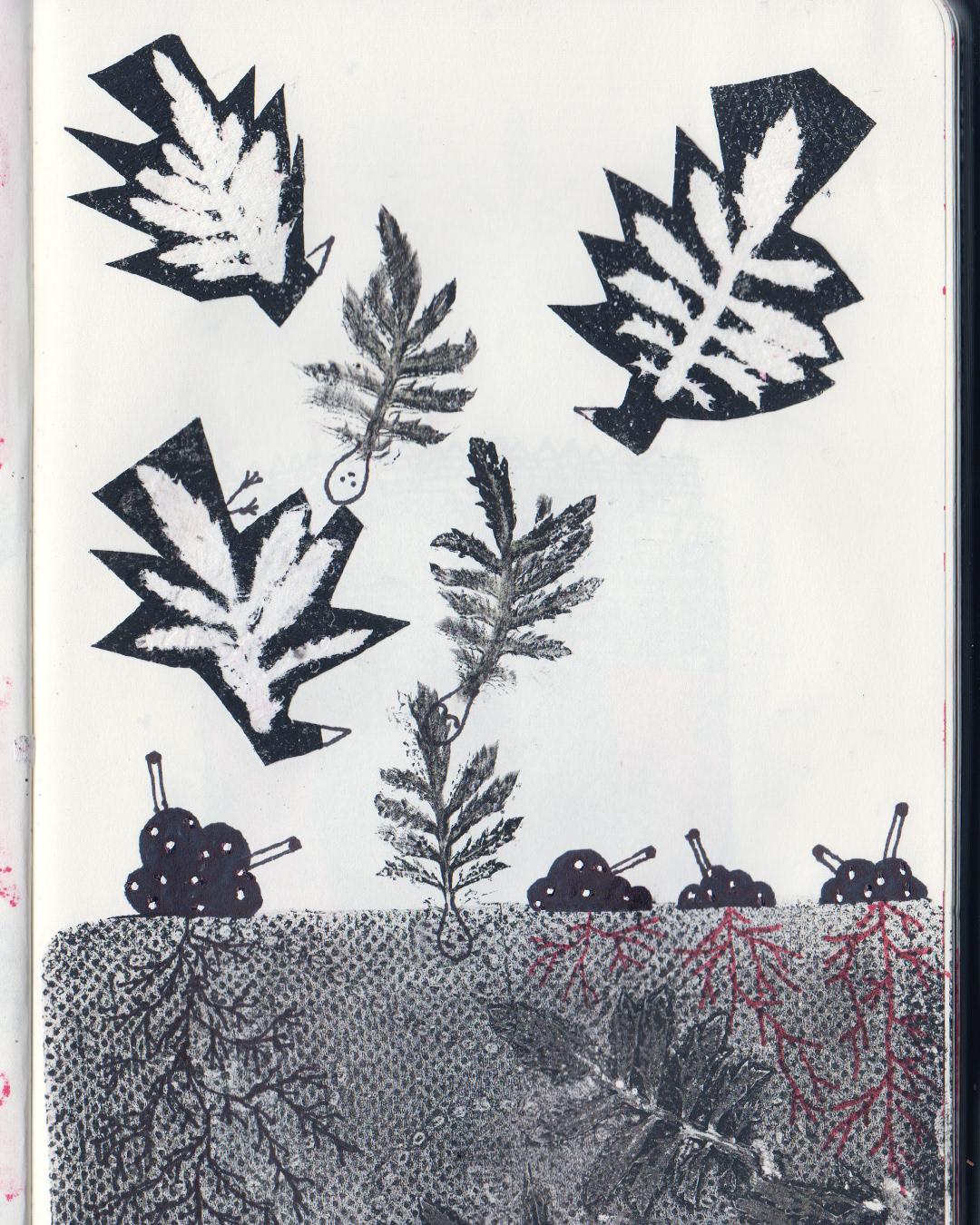 Image may contain: tree, art and drawing