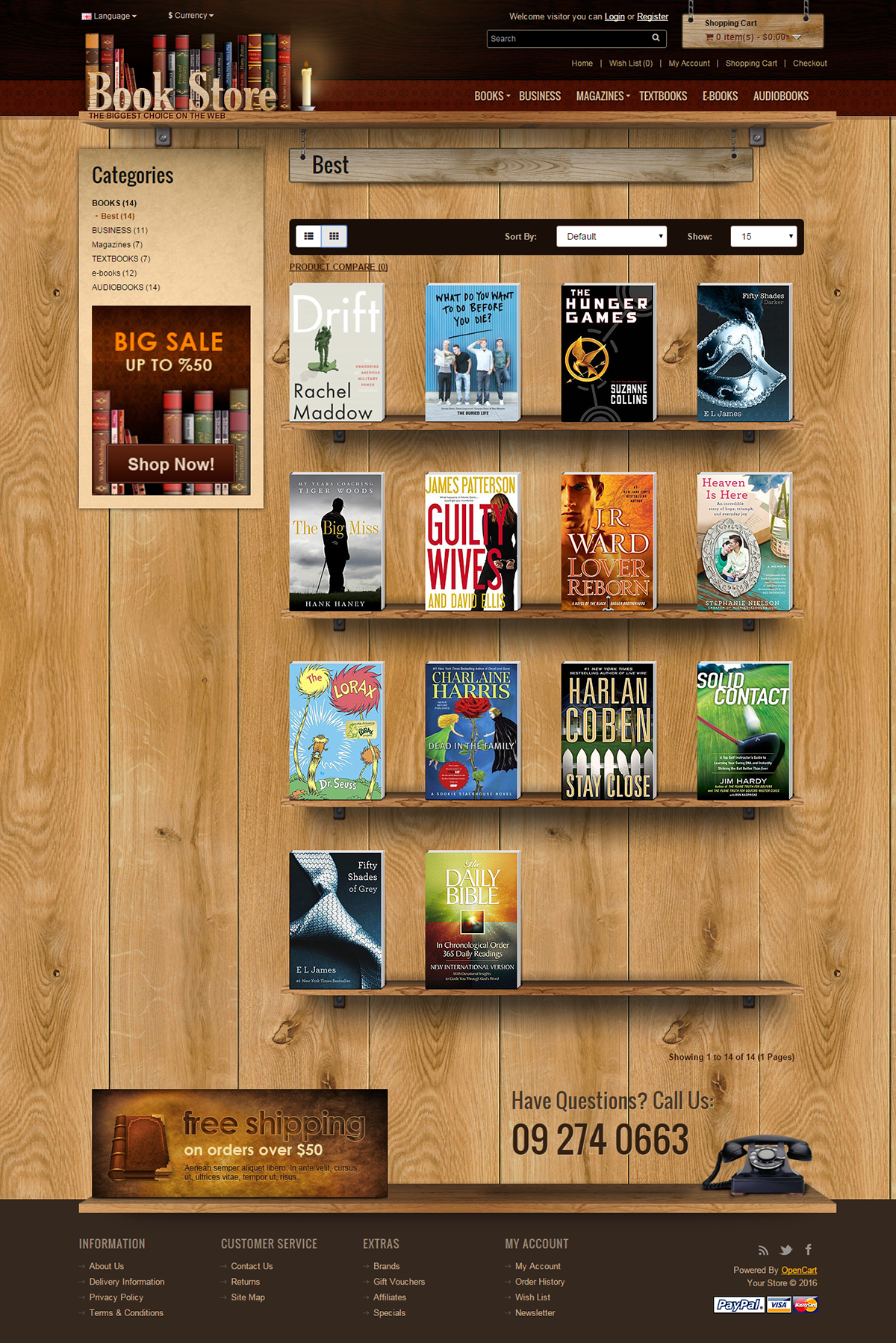 Book Store 20 Opencart Theme On Behance