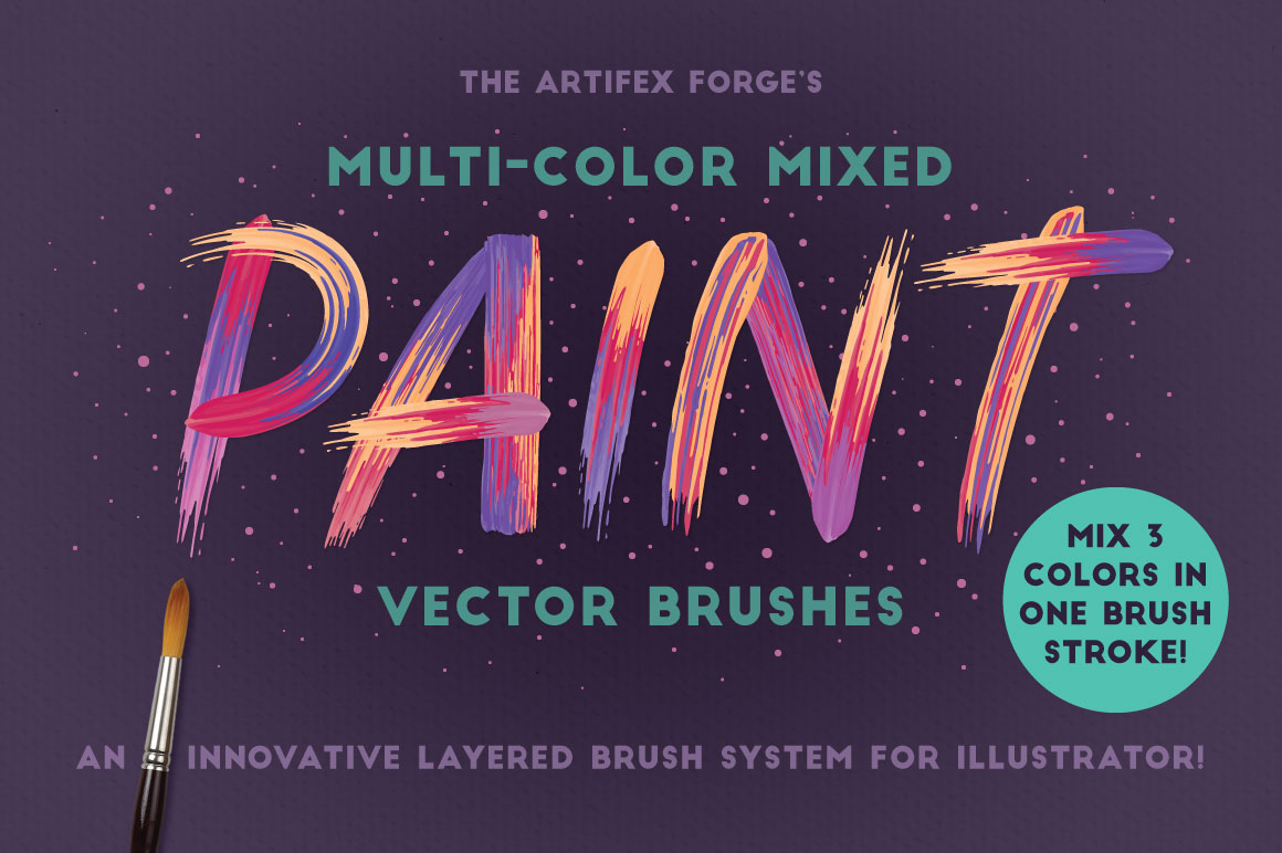 Multi-color Mixed Paint Vector Brushes on Behance