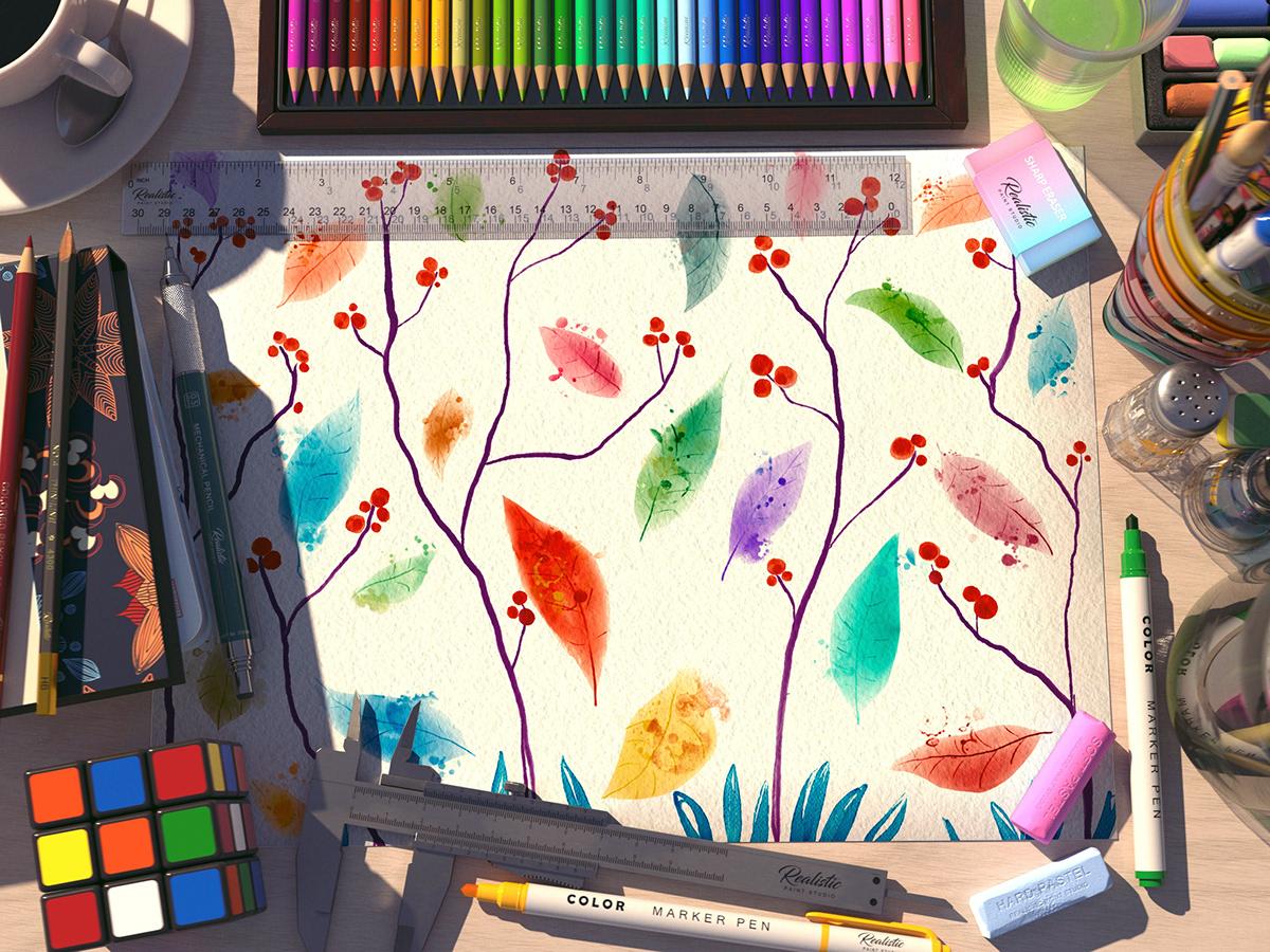 acuarela aquarela digitalpainting realistic stamp textile watercolor watercolour
