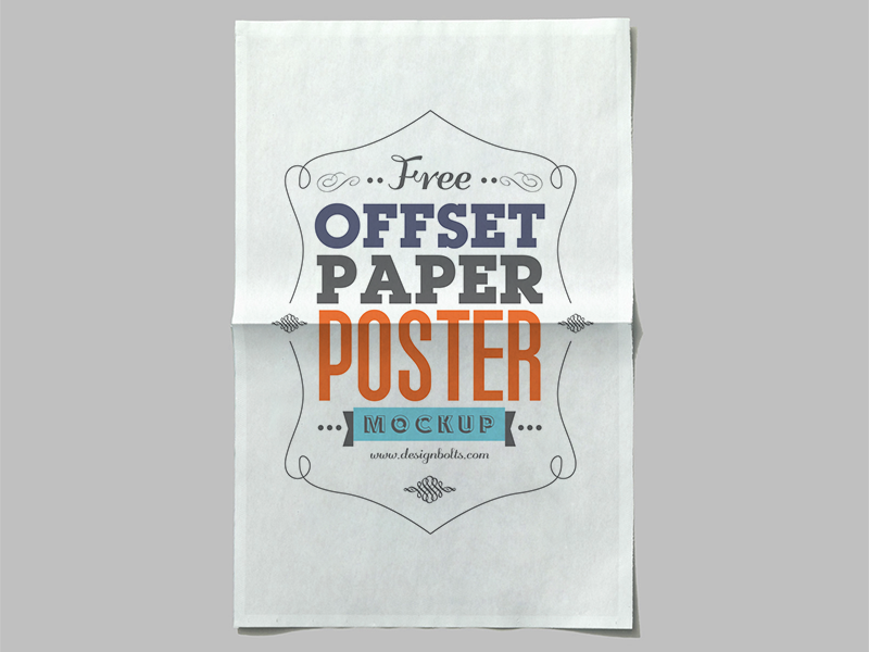 Free Offset Paper Poster Mockup PSD on Behance