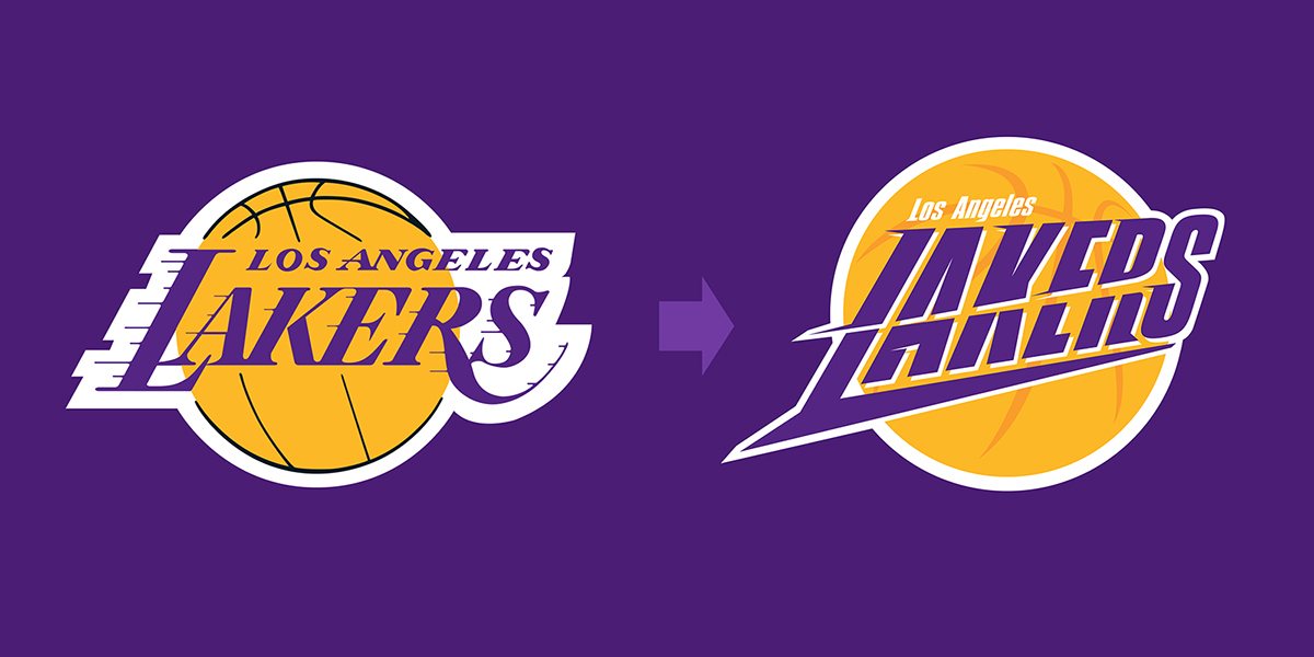 La lakers logo on behance los angeles lakers new logo concept voltagebd Choice Image