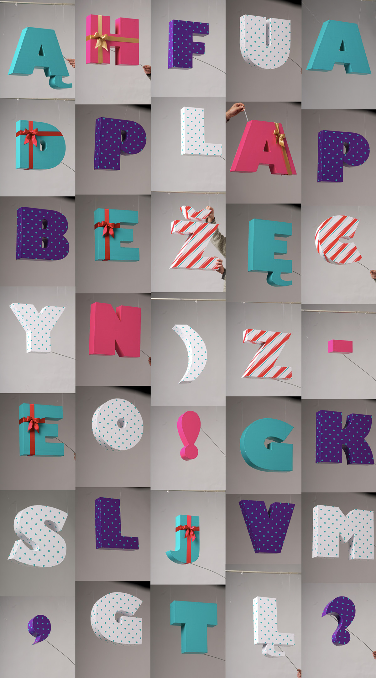 NEW! Fotelier letters type analog Real studio Mockup scene decorations wrapped pattern words font