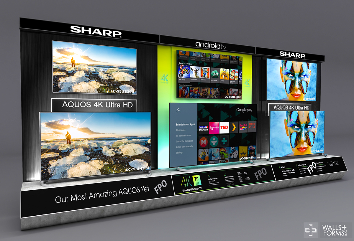 Sharp Electronics (TV Wall) on Behance