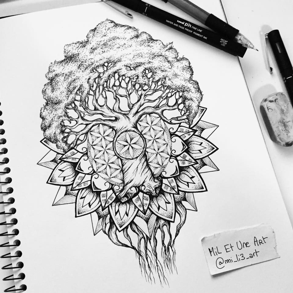 9 Mandala Tattoo Designs And Ideas: Yggdrasil Mandala Tattoo Design On Behance