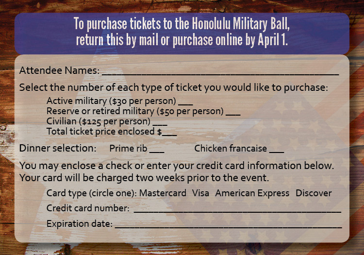 Honolulu Military Ball Invitation On Behance