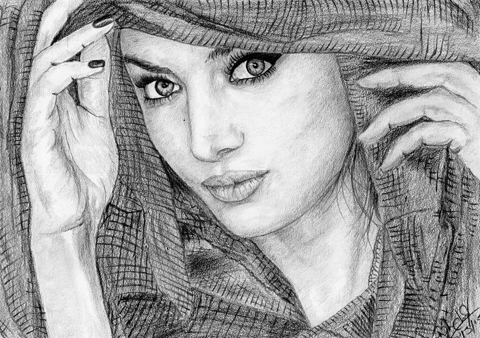 Beautiful Women Pencil Sketch On Behance