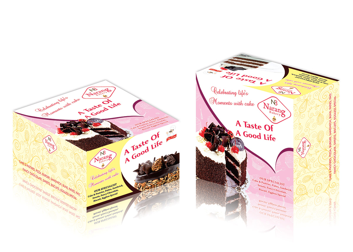 Cake Box Packaging Design On Student Show