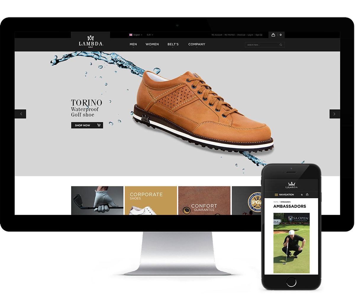 lambda golf Web digital Ecommerce