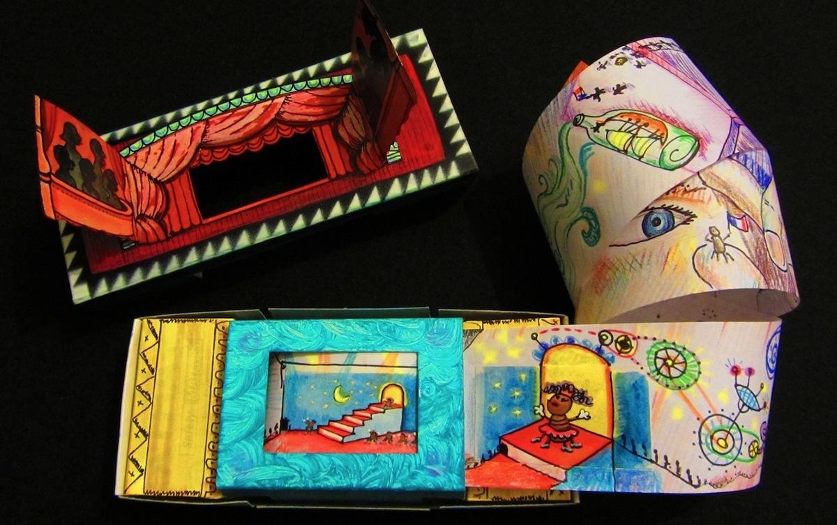 puppets artists Players mail-art paper boxes scrolls Group Project alex mitchell twinki-winki