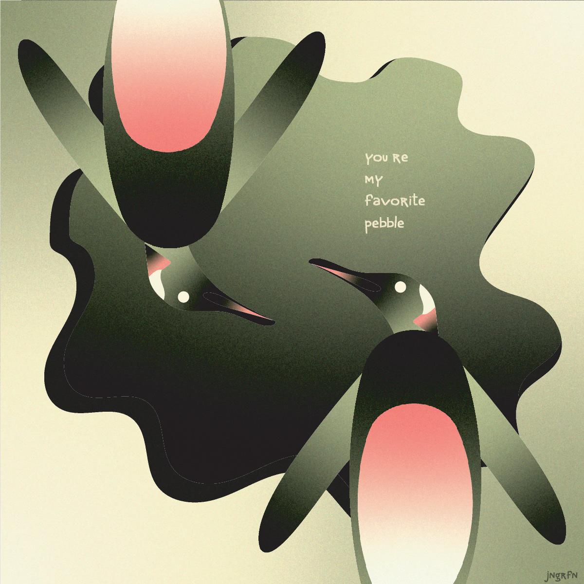 adobe gradient grains Illustrator monkey noise penguin vector