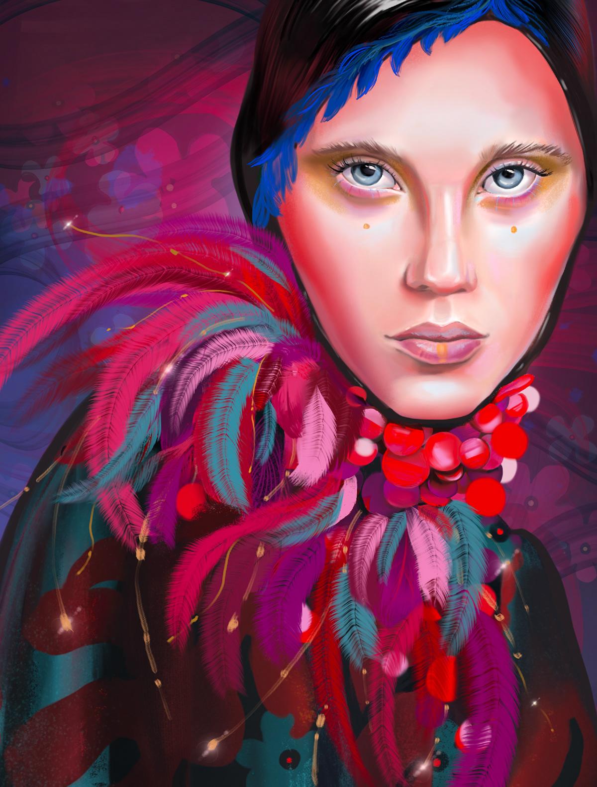 Image may contain: painting, cartoon and human face