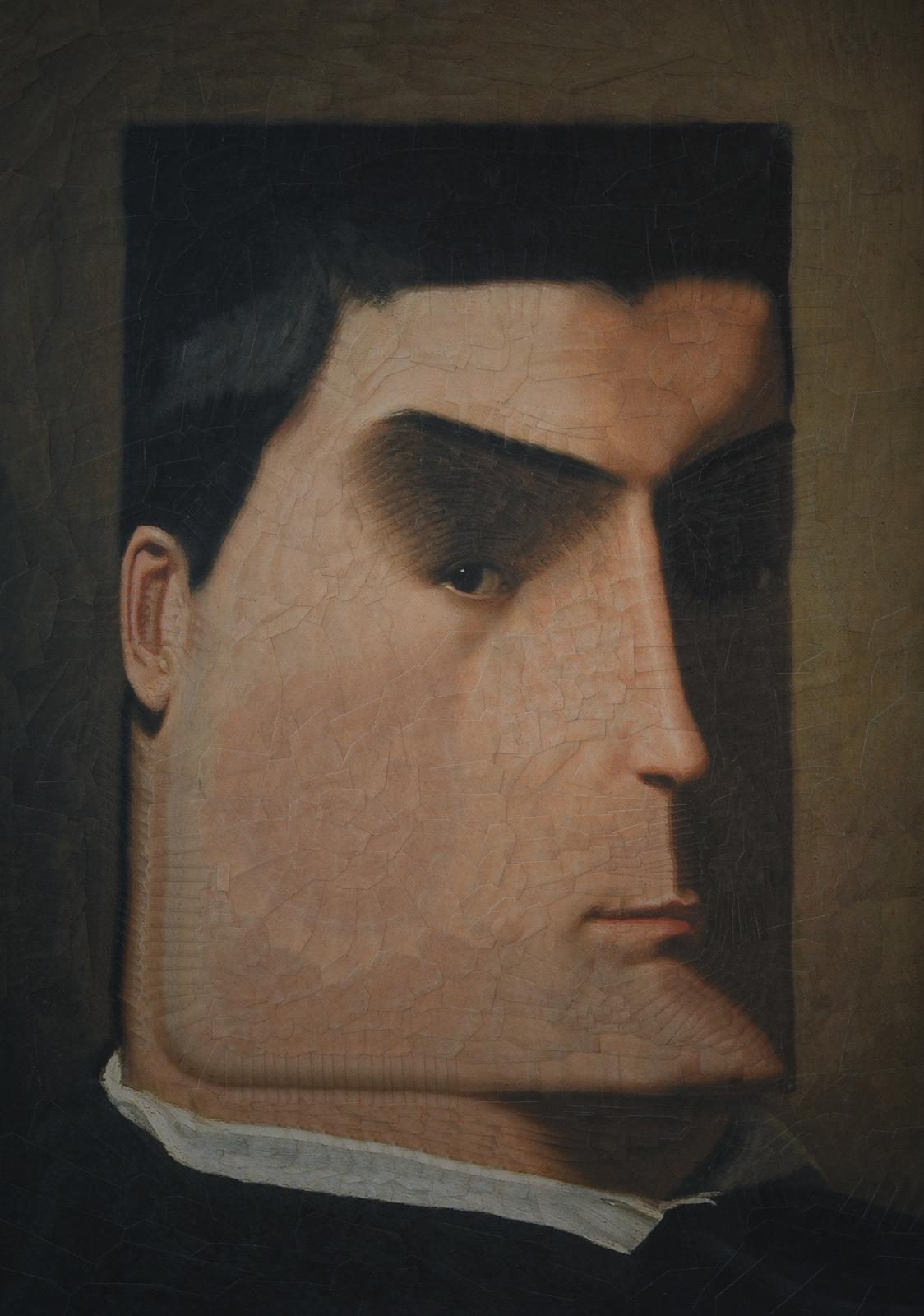 collage eyes fingers ILLUSTRATION  paper paper collage portrait portraits surreal texture