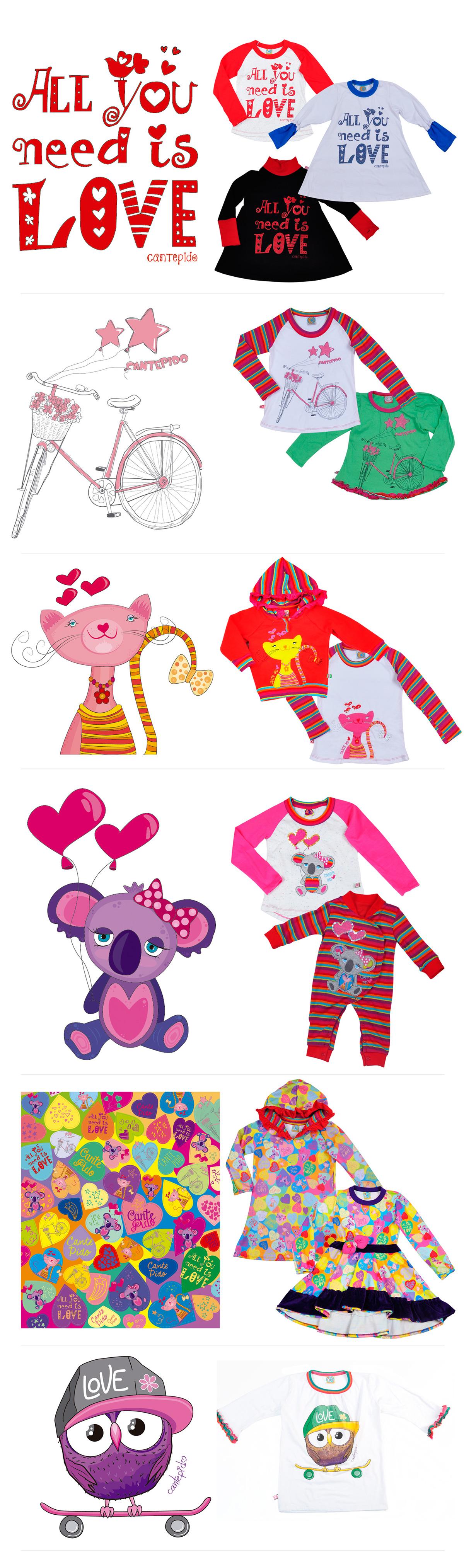indumentaria infantil indumentaria infantil Estampas estampado bordado Ropa niños diseño ilustracion dibujos color