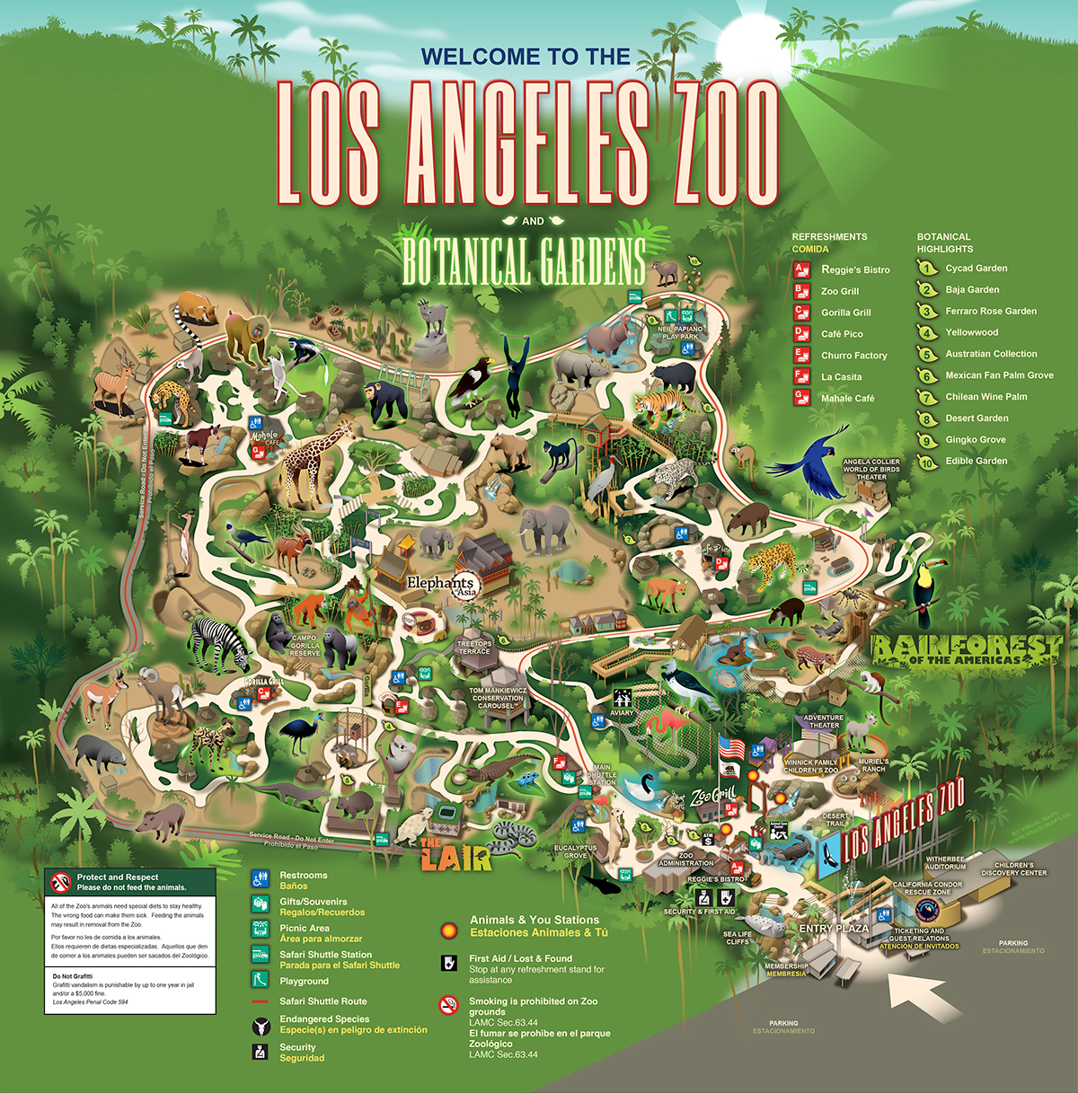 La Zoo Map LA ZOO on Behance