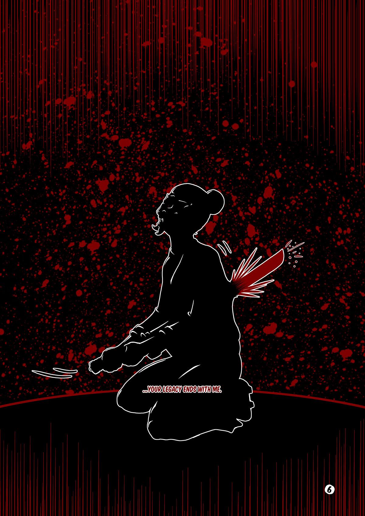 comic ILLUSTRATION  ronin samurai demon TLP tenerife lapizdel2 canarias