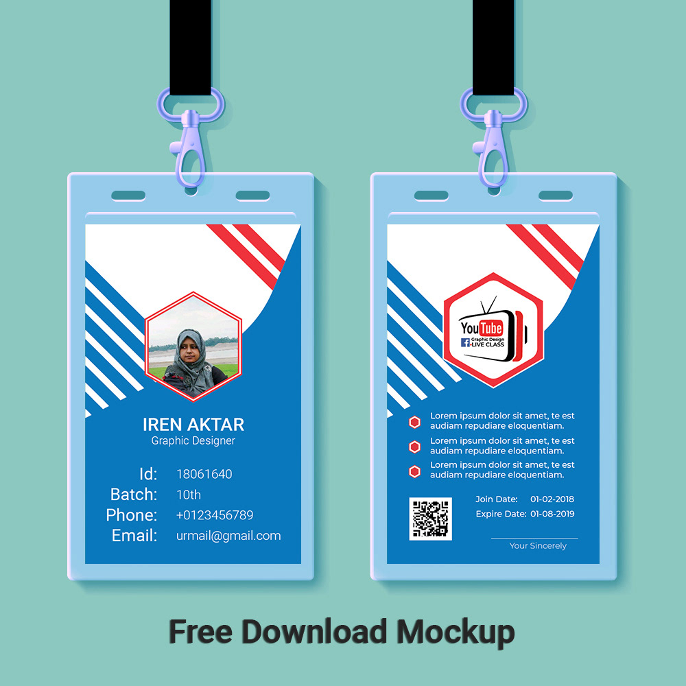 ID Card Design with Free Mockup on Behance