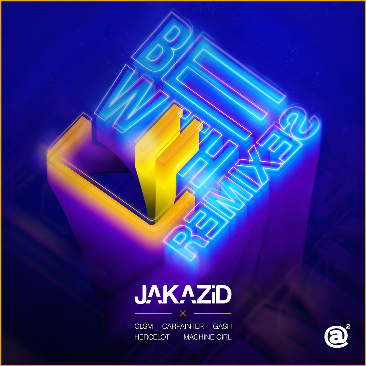 happy hardcore japan JAKAZiD album cover 3D neon CLSM electronic