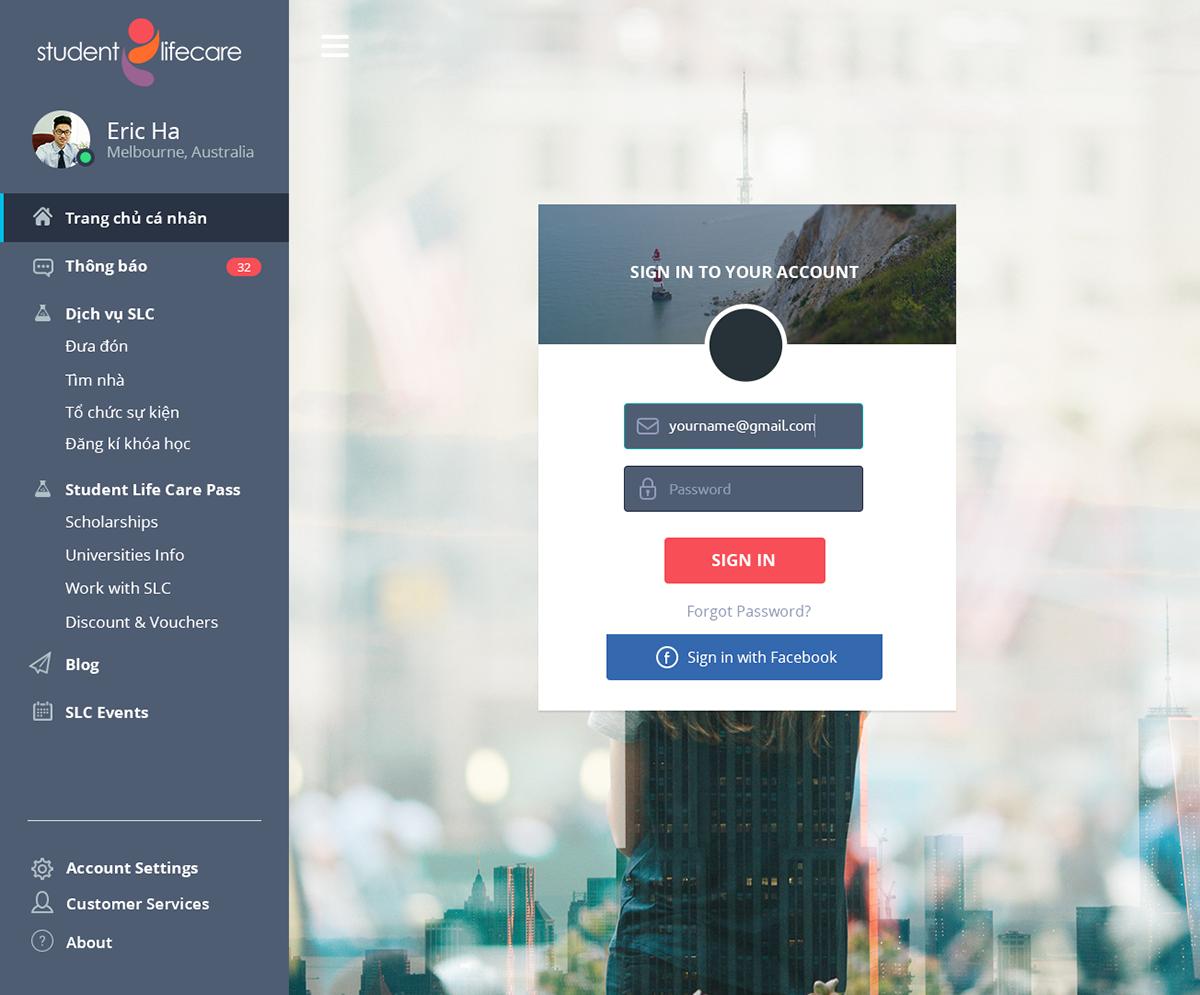 Student Life Care Web Design on Behance
