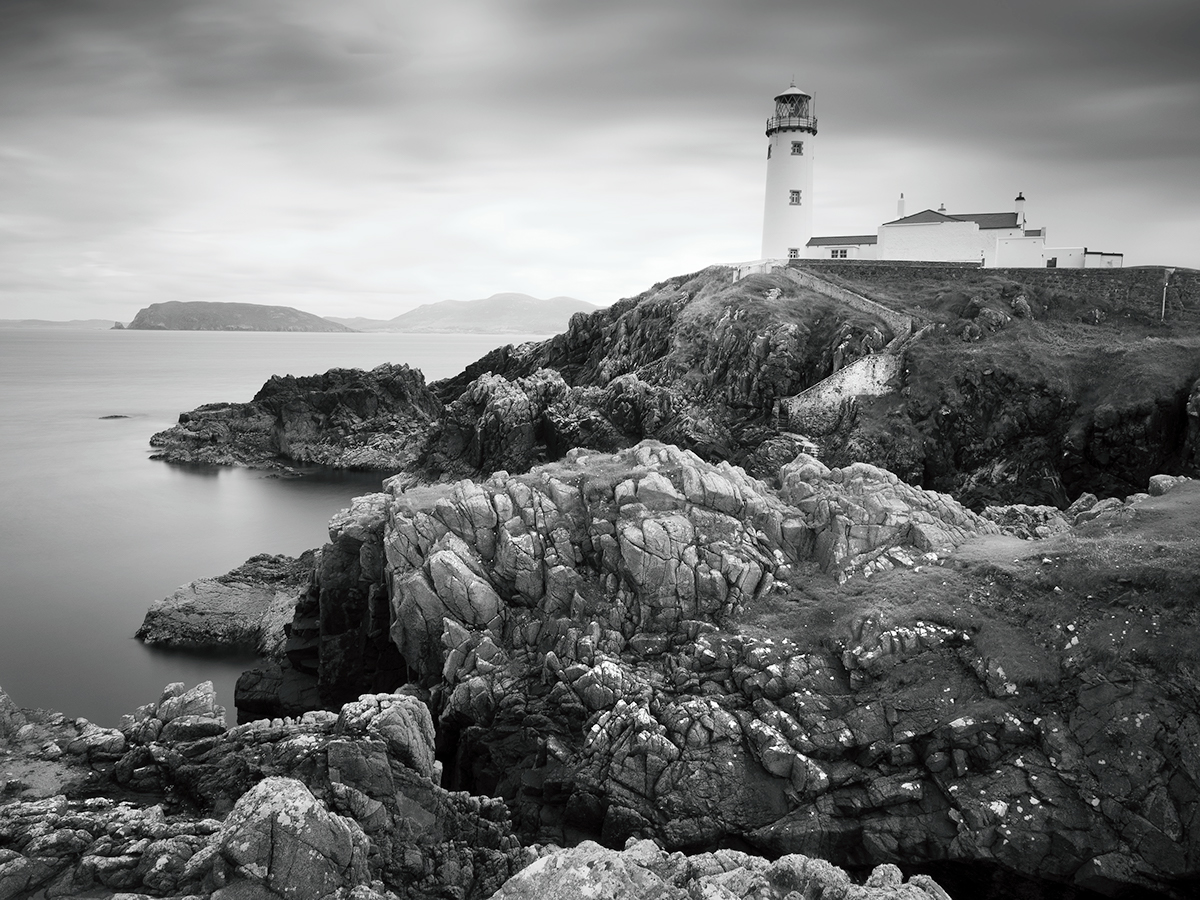 Coast Ireland black and white seascape Landscape atlantic