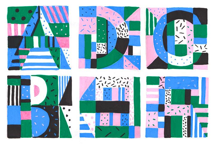 logo graphic 90s colour geometry pattern shape