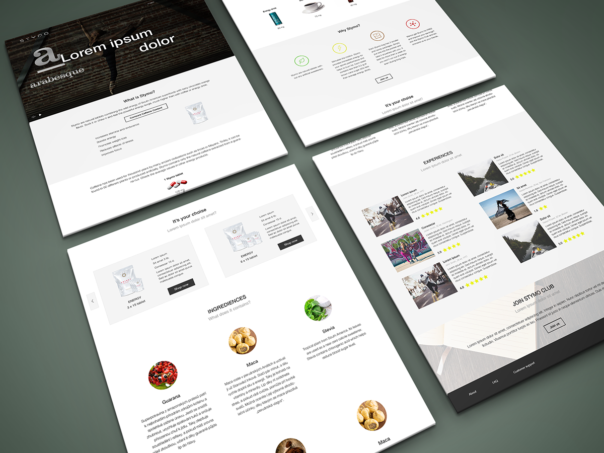 eshop micropage Web Design  web site ux UI one-page