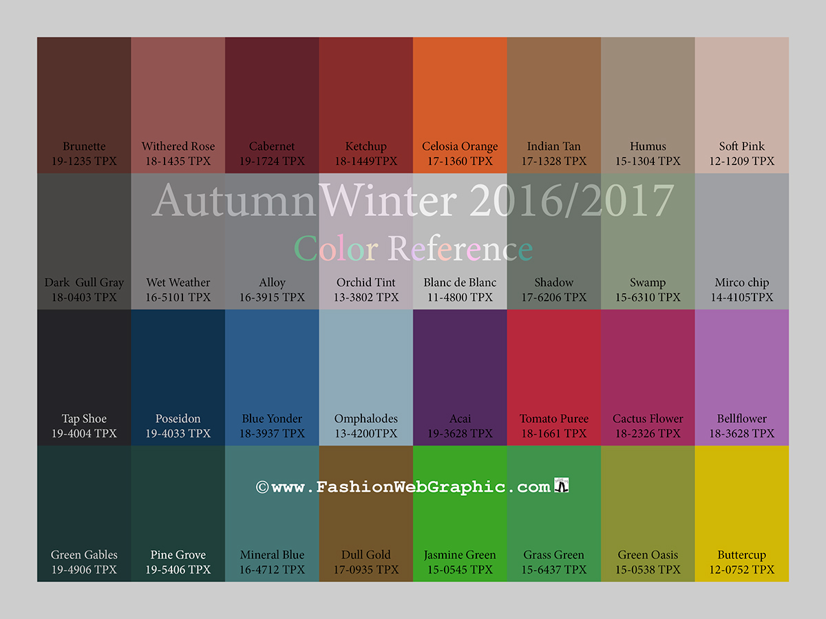 autumnwinter 2016 2017 trend forecasting is a trend color guide that