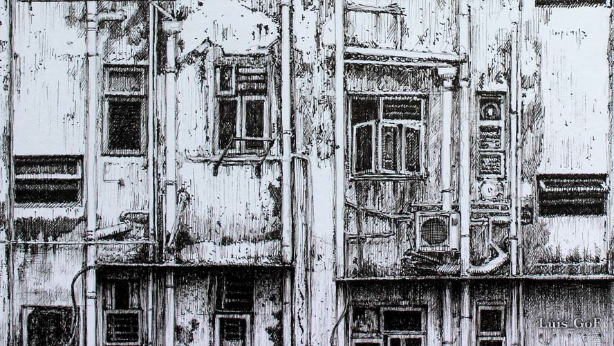 Old Building Drawing On Behance