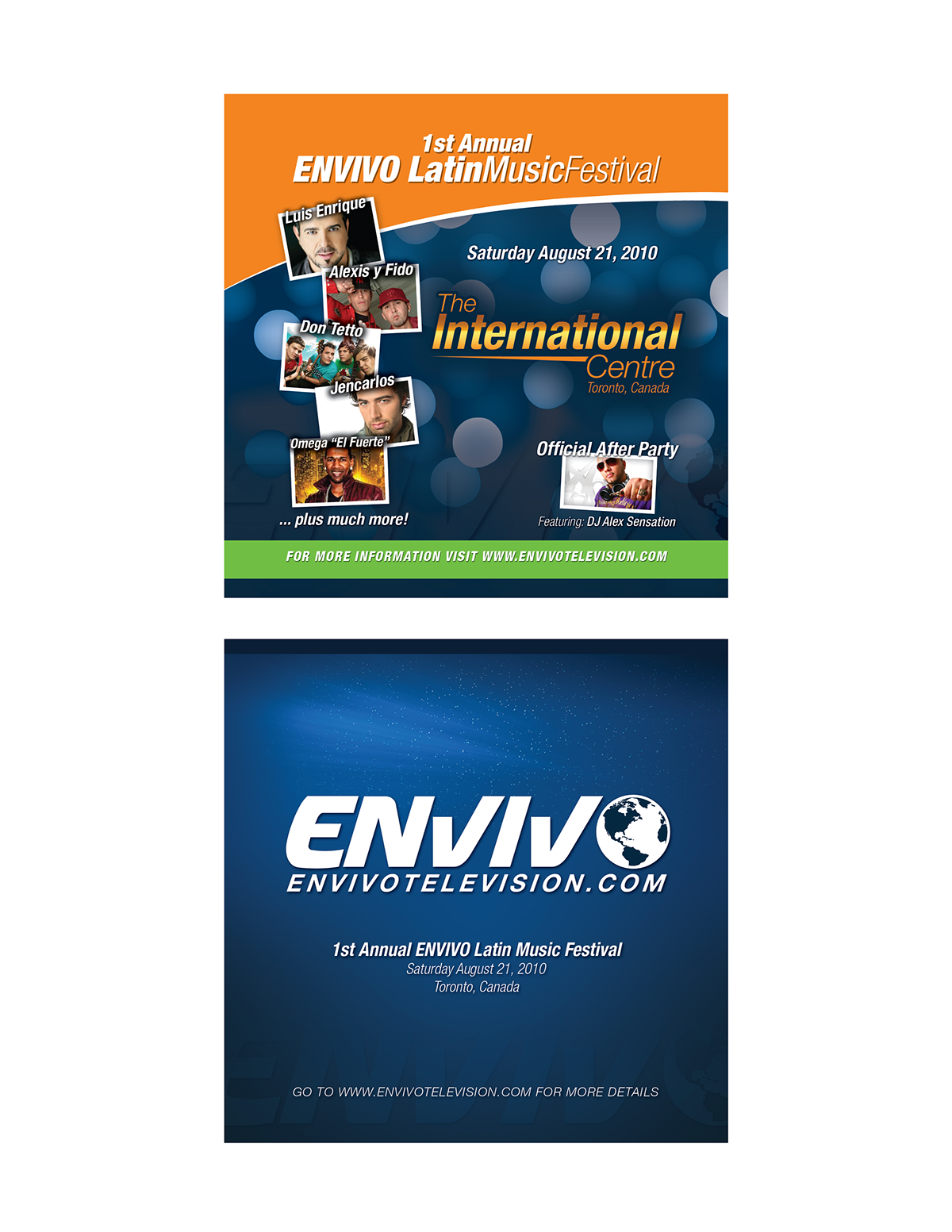 envivo,Web marketing,posters,Fliers